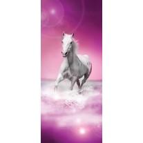 Fotobehang Paard | Roze, Wit | 91x211cm