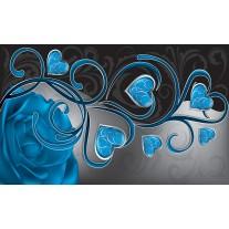 Fotobehang Papier Art | Blauw | 368x254cm
