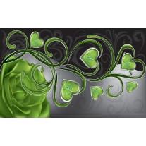 Fotobehang Papier Art | Groen | 368x254cm