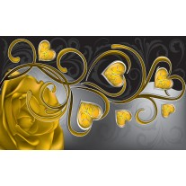 Fotobehang Papier Art | Goud | 368x254cm