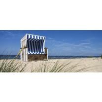 Fotobehang Strand | Blauw | 250x104cm