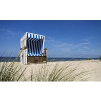 Fotobehang Papier Strand | Blauw | 368x254cm