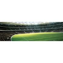 Fotobehang Vlies Voetbal | Groen | GROOT 832x254cm