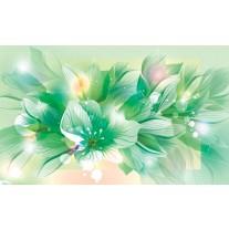 Fotobehang Papier Bloemen | Groen | 254x184cm