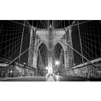 Fotobehang Papier Brug | Zwart | 254x184cm