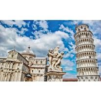 Fotobehang Papier Pisa | Blauw | 254x184cm