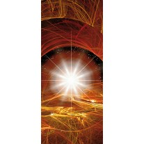 Fotobehang Abstract | Bruin, Oranje | 91x211cm