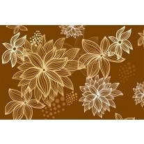 Fotobehang Papier Bloemen | Bruin | 368x254cm