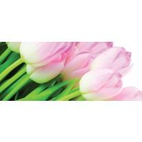 Fotobehang Bloemen | Groen | 250x104cm