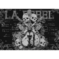 Fotobehang Papier Muziek | Zwart | 368x254cm