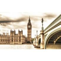 Fotobehang Papier London | Sepia | 368x254cm