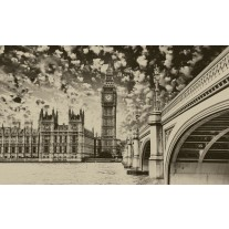Fotobehang London | Sepia | 152,5x104cm
