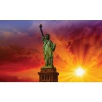 Fotobehang Papier New York | Rood | 368x254cm