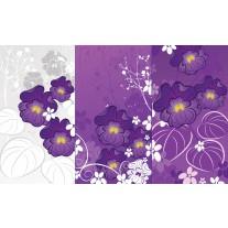Fotobehang Papier Bloemen | Paars | 254x184cm