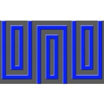 Fotobehang Papier Stenen | Blauw | 254x184cm