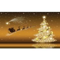 Fotobehang Papier Kerst | Goud | 254x184cm