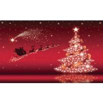 Fotobehang Papier Kerst | Rood | 254x184cm