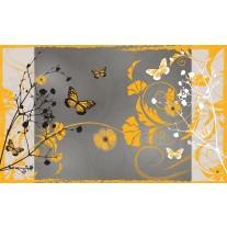 Fotobehang Papier Bloemen | Geel | 254x184cm
