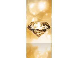 Deursticker Muursticker Diamant, Steen | Goud | 91x211cm
