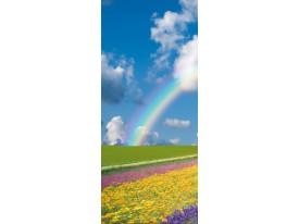 Deursticker Muursticker Natuur, Regenboog | Blauw | 91x211cm