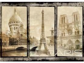 Fotobehang Papier Parijs   Sepia   254x184cm