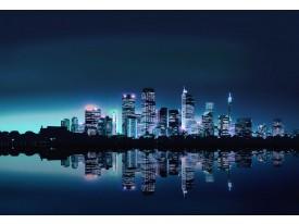 Fotobehang Papier Stad | Blauw | 254x184cm