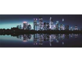 Fotobehang Stad | Blauw | 250x104cm
