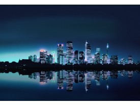 Fotobehang Vlies | Stad | Blauw | 368x254cm (bxh)