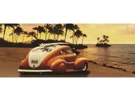 Fotobehang Auto | Bruin, Oranje | 250x104cm