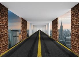 Fotobehang Vlies | New York | Zwart, Bruin | 368x254cm (bxh)