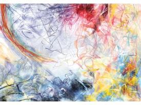 Fotobehang Vlies | Abstract | Blauw, Geel | 368x254cm (bxh)