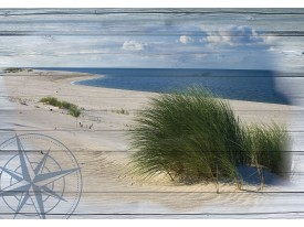 Fotobehang Vlies | Strand | Blauw, Groen | 368x254cm (bxh)