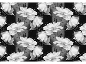 Fotobehang Vlies   Bloemen   Grijs, Zwart   368x254cm (bxh)