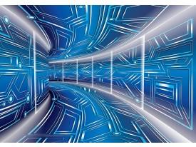 Fotobehang Vlies | Abstract | Blauw, Grijs | 368x254cm (bxh)