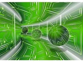 Fotobehang Vlies | Abstract | Groen, Grijs | 368x254cm (bxh)