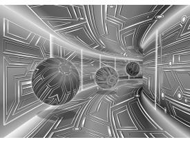 Fotobehang Vlies | Abstract | Zilver, Grijs | 368x254cm (bxh)