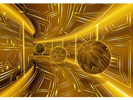 Fotobehang Vlies | Abstract | Goud, Bruin | 368x254cm (bxh)