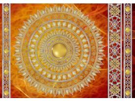 Fotobehang Vlies | Klassiek | Geel, Oranje | 368x254cm (bxh)
