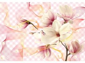 Fotobehang Vlies | Orchidee | Geel, Grijs | 368x254cm (bxh)