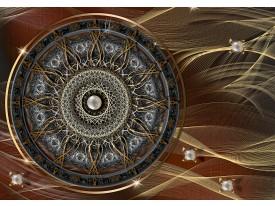 Fotobehang Vlies | Abstract | Bruin, Goud | 368x254cm (bxh)