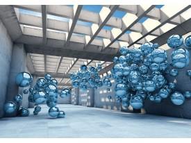 Fotobehang Vlies | Abstract | Zilver, Blauw | 368x254cm (bxh)