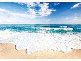 Fotobehang Vlies | Strand | Blauw, Wit | 368x254cm (bxh)