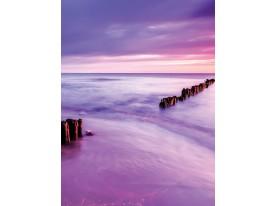 Fotobehang Papier Zee | Paars, Roze | 184x254cm