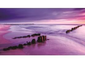 Fotobehang Vlies   Strand, Zee   Paars   368x254cm (bxh)