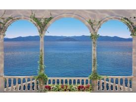 Fotobehang Vlies | Diepte, Zee | Blauw | 368x254cm (bxh)