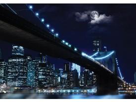Fotobehang Vlies | New York | Grijs, Blauw | 368x254cm (bxh)