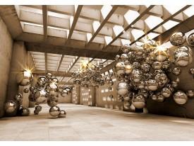 Fotobehang Vlies | Design | Goud, Bruin | 368x254cm (bxh)