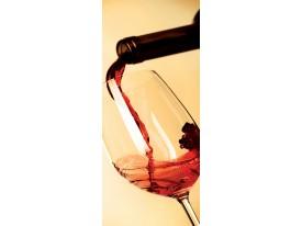 Deursticker Muursticker Keuken, Wijn | Rood | 91x211cm