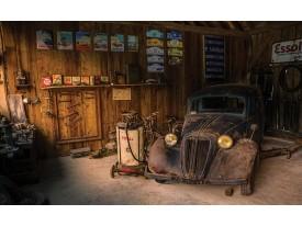 Fotobehang Vlies | Auto, Oldtimer  | Bruin | 368x254cm (bxh)