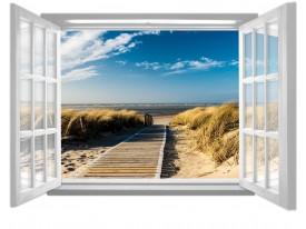 Fotobehang Strand, Zee | Blauw |